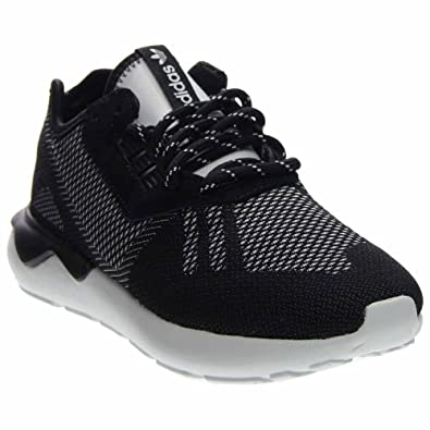 new style 03048 cffa6 adidas Mens Tubular Runner Weave Black White Fabric Size 9