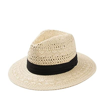 6b5e01801b5f9 Amazon.com: ALWLj New Hollow Straw Sun Hats For Women Summer Panama ...
