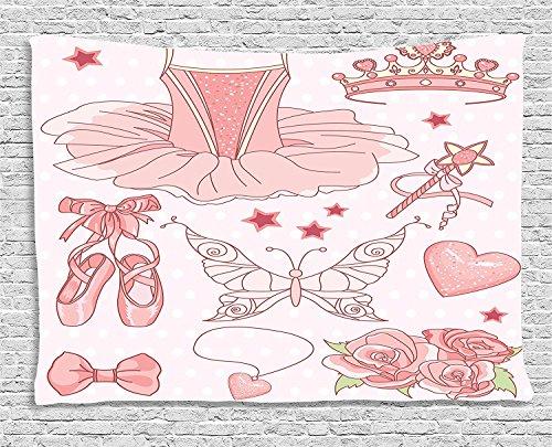 [Teen Girls Collection Set Of Princess Ballerina Classic Costume Shoes Tiara Roses Sofa Supersoft Throw Fleece Blanket Supersoft Throw Fleece Blanket 49.21x78.74] (Blue Ninja Costume Walmart)
