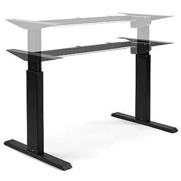 Ergobasis elektrisches tischgestell light schwarz best price stufenlos höhenverstellbar von ca
