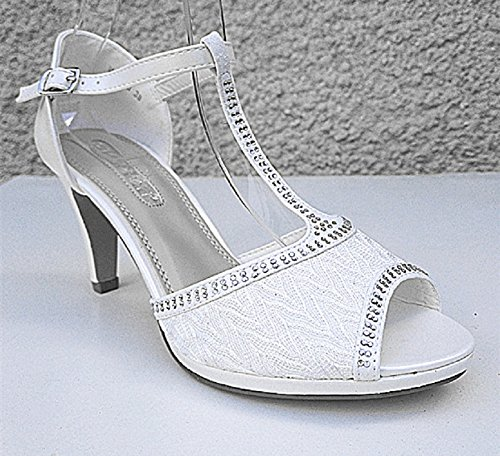 fashionfolie Sandalias de Vestir de Material Sintético Mujer