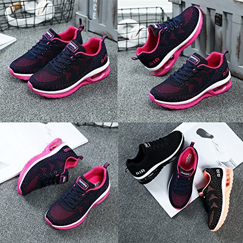 Sitaile Kvinnor Män Atletisk Walking Gymnastikskor Lätt Andas Luftkudde Tennis Löparskor Mörkblå
