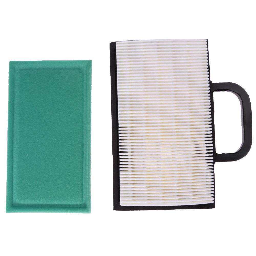 Podoy 698754 Air Filter for Briggs Stratton with 499486 Pre Filter 691007 273638 8hp to 26hp Intek V-Twin Engines Lawn Mower Air Filter