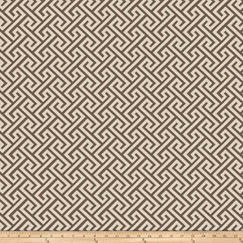 Vern Yip 03359 Jacquard Greek Key Bark Fabric by The Yard