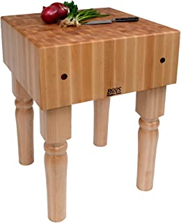 product image for John Boos Kitchen Butcher Block Table (24 x 24 x 10 (205 lbs.) - Black)