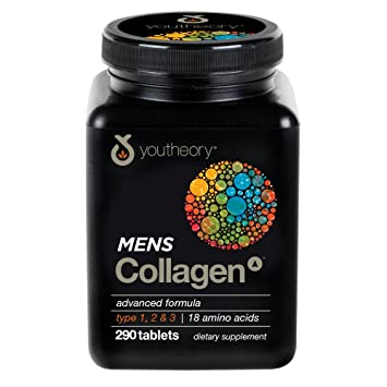 Youtheory Mens Collagen Advanced with Biotin, 290 Count (1 Bottle)