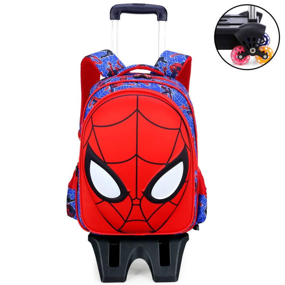 XIAOMIN 3D Spiderman Trolley Bag-32  13  42cm - Blau, Schwarz, Rot,A-32  13  42cm-Highsixrounds