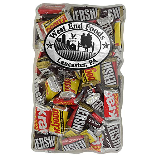 Bulk Hershey's Chocolate Candy Bar Assortment, Miniatures ,