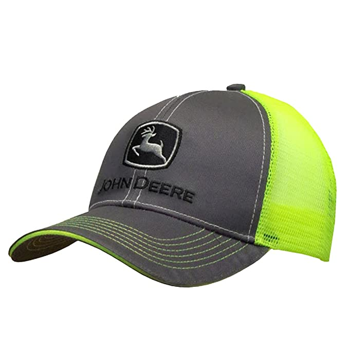 9b91da6a15835 Image Unavailable. Image not available for. Color  John Deere Charcoal with  Neon Yellow Mesh Backing Snapback Hat - 13080411CH00