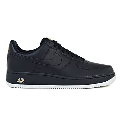 Zapatillas Nike – Air Force 1 07 Negro/Blanco/Dorado Talla: 47