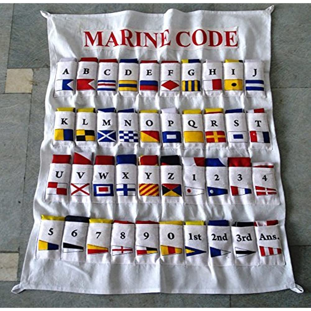 Navy Signal Code FLAG Set Marine // Boat Set of Total 40 with CASE COVER U.S