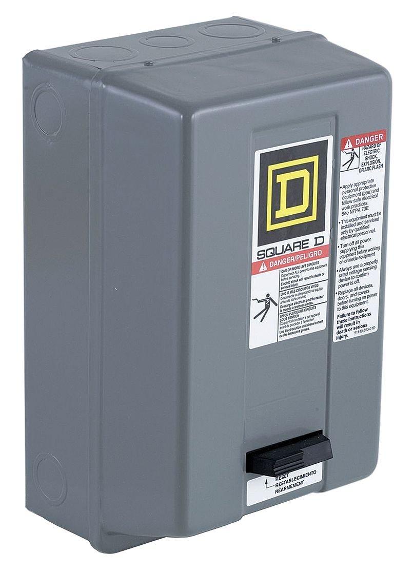 Square D - 8536SAG12V06H30 - NEMA Magnetic Motor Starter, 480VAC ...