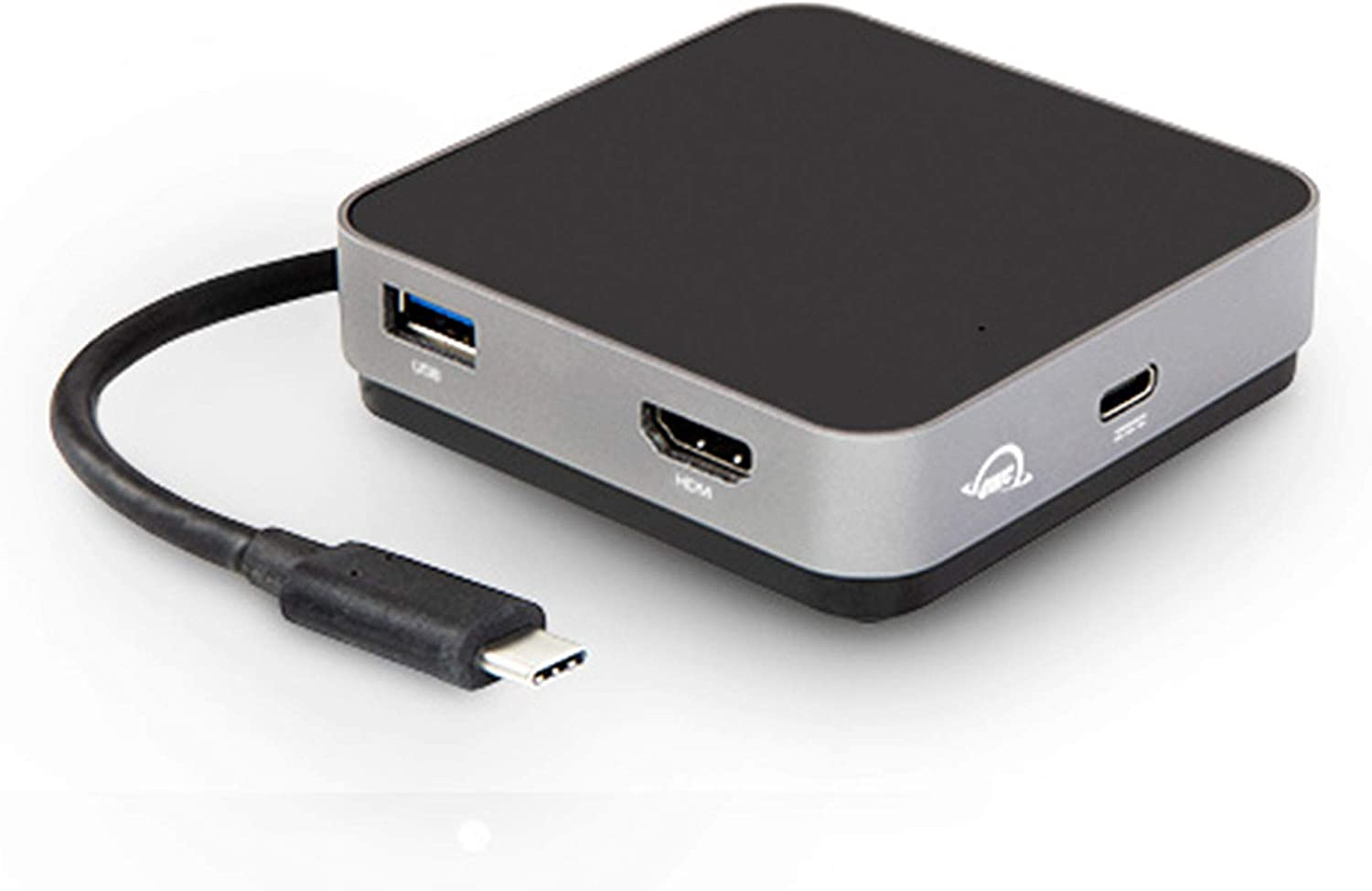 OWC USB-C Travel Dock, 5 Port with USB 3.1, HDMI, SD Card, and 100W Power Pass Through, Space Grey