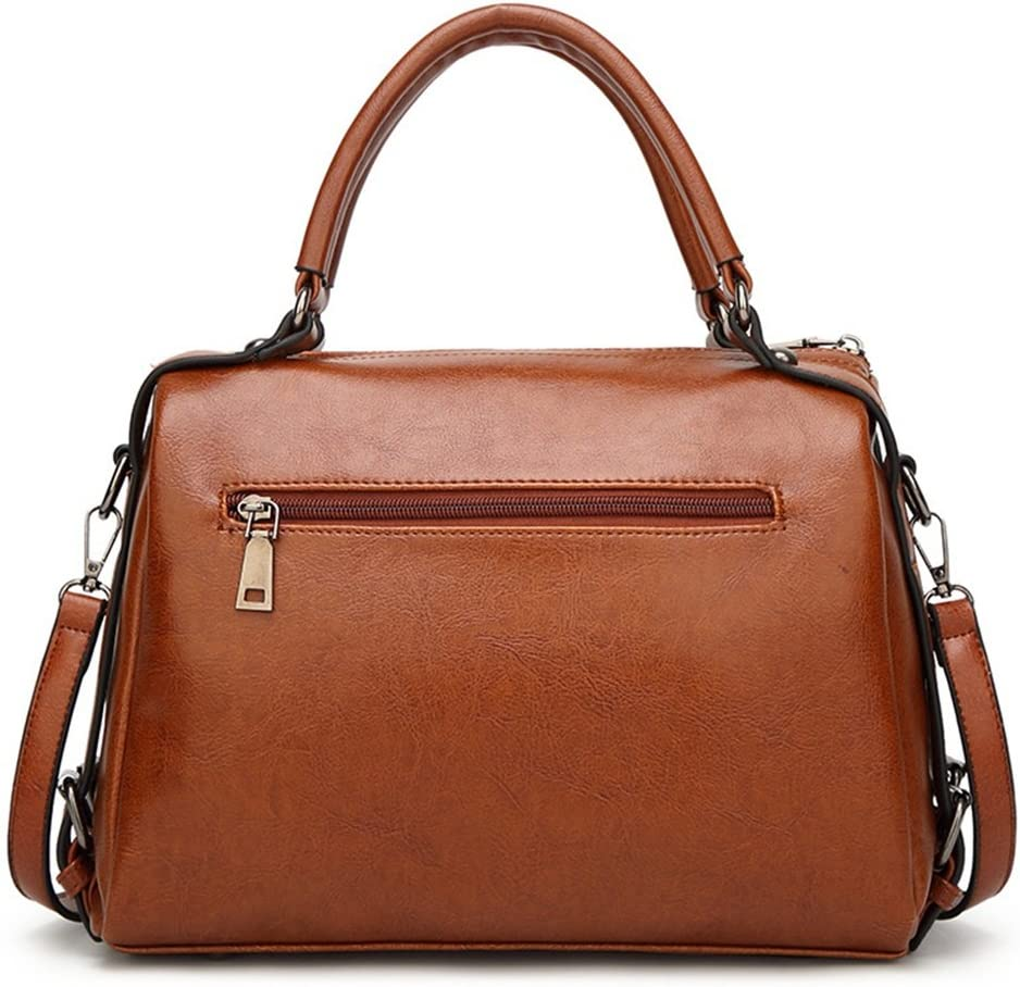 Handbag Brown Sunmiao Large-Size PU Crocodile Embossed Messenger Bag