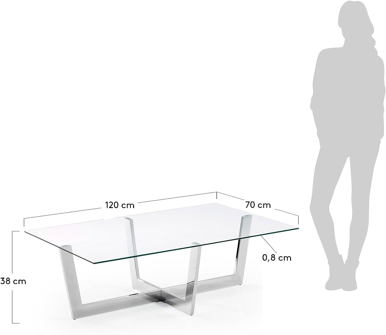 Kave Home - Mesa de Centro Plam 120 x 70 cm con sobre Rectangular ...