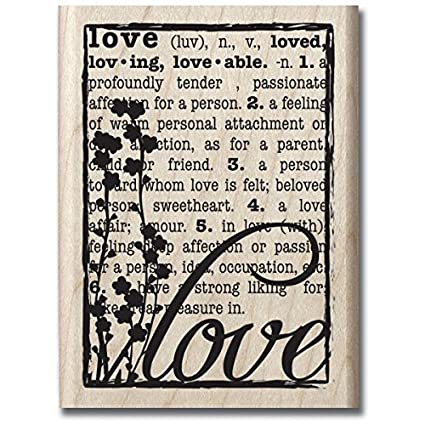 Hampton Art Hf Love Defined Wood Rubber Stamp By