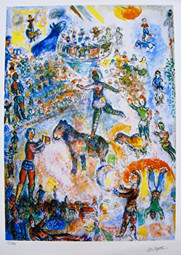 Art by Marc Chagall Circus Grand Limited Edition Facsimile Signed Small Giclee Print. After the Original Painting or Drawing. Paper 16 Inches X 11 Inches (Circus Chagall Marc)