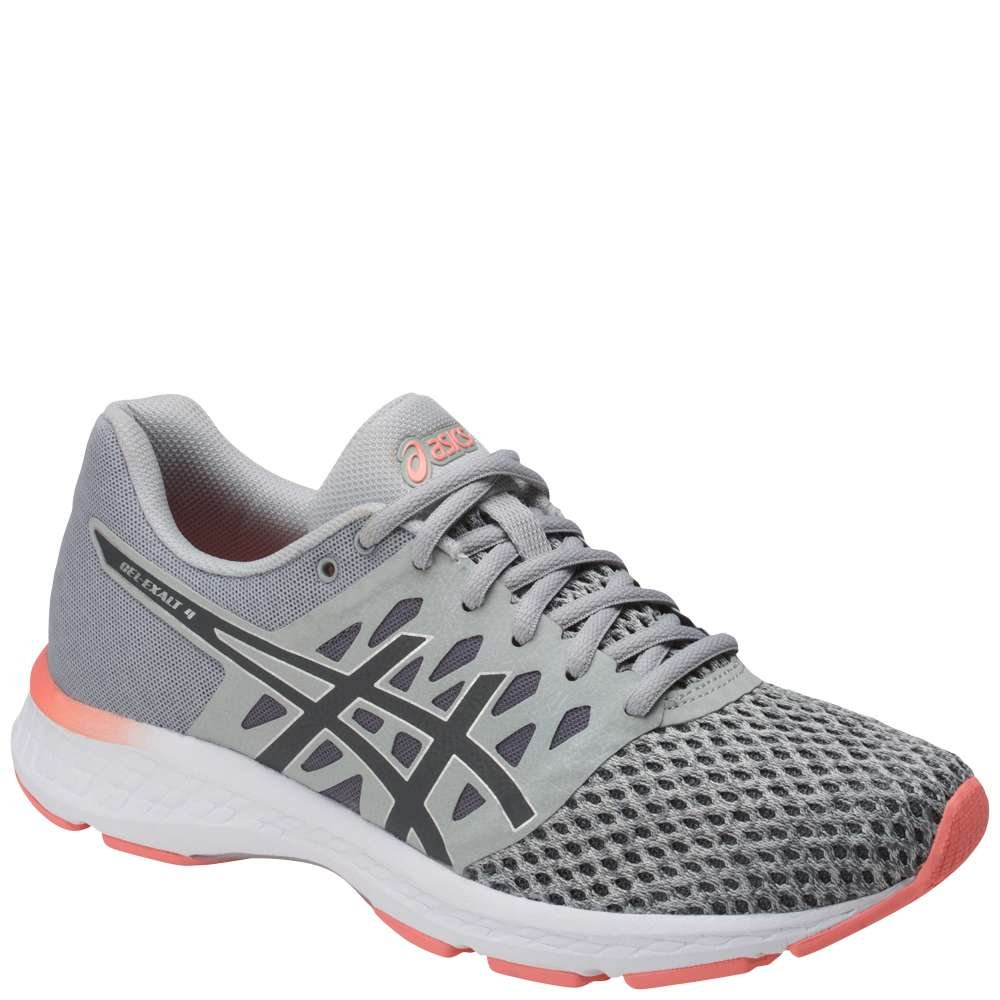ASICS Women's Gel-Exalt 4 Running Shoe B077XN61QN 7.5 B(M) US|Grey/Carbon/Pink