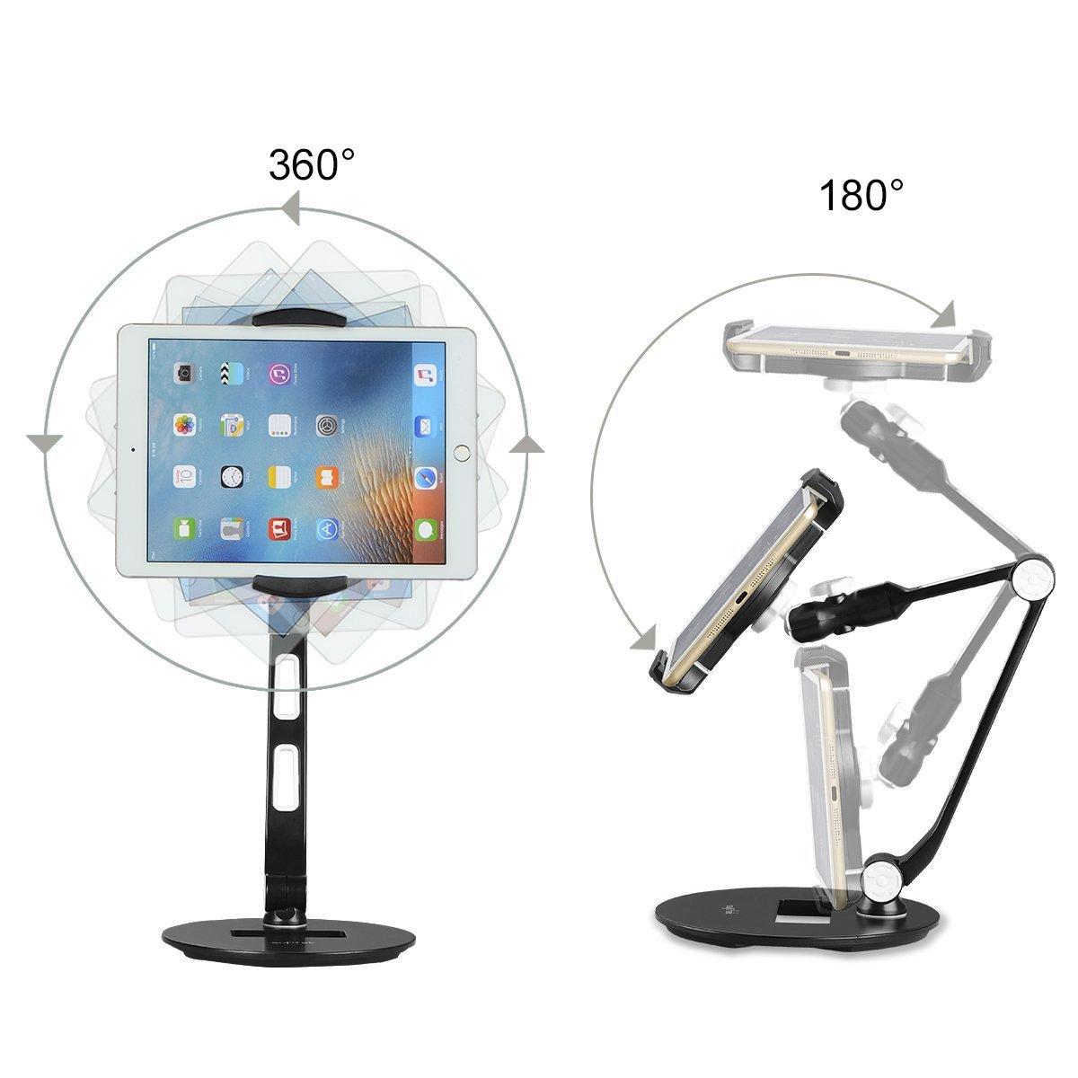 Soporte para Tableta Soporte para Teléfono Soporte De Escritorio Diseño De ángulo Ajustable para La Mayoría De Las Tabletas De 4-13 Pulgadas (10-34cm) Negro ...