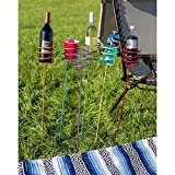 Sunnydaze Heavy Duty Multi Colored Outdoor Drink Holder Stakes-Set of 6