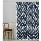 Maytex Emma Fabric Shower Curtain, Blue, 70 X 72 Inch , Geometric