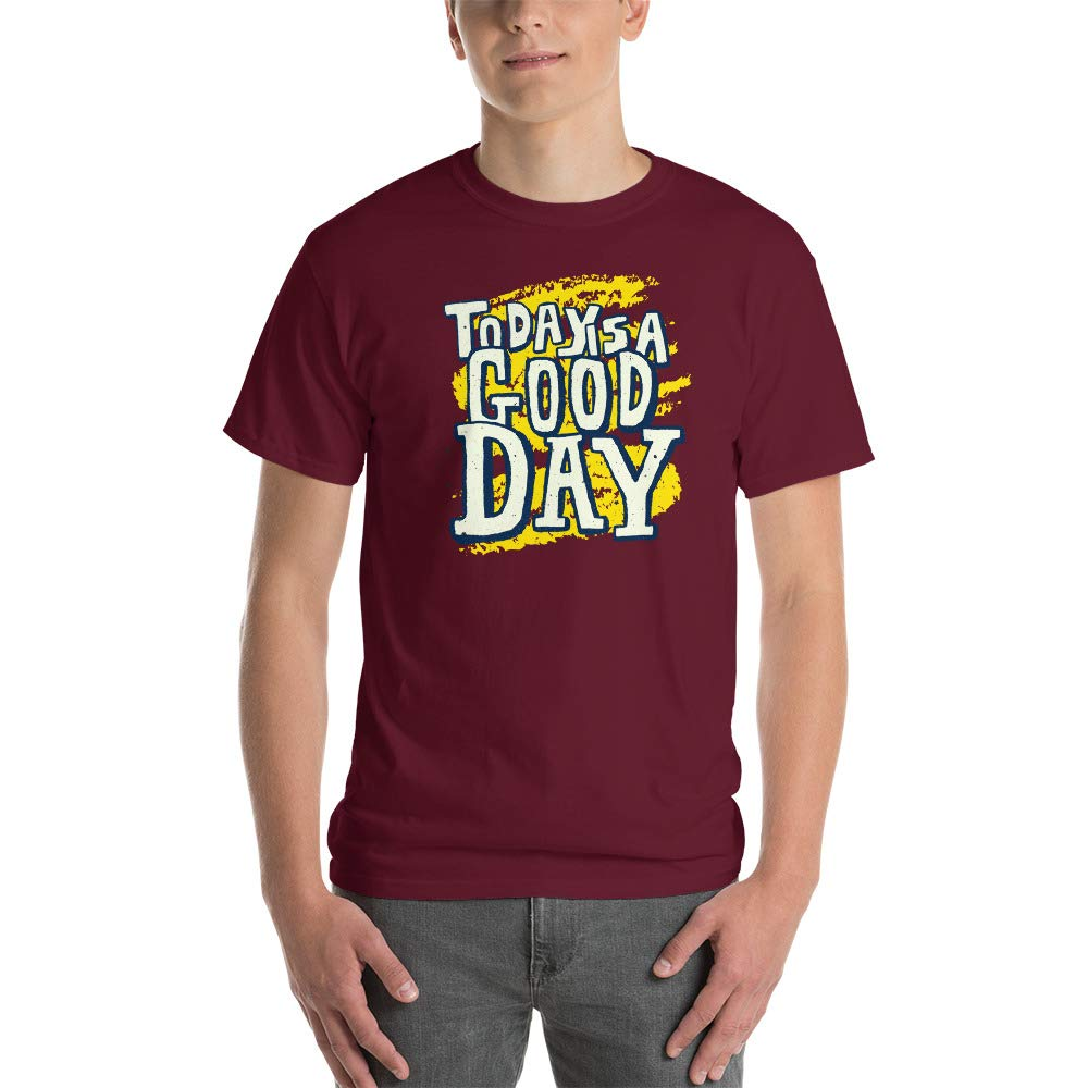 100/% Cotton Funny T-Shirt for Men Graphic Today is a Good Day T Shirt