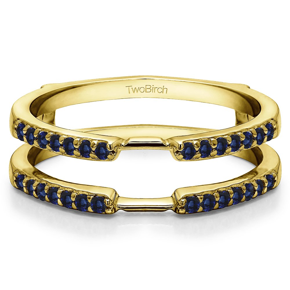 0.28 ct. Sapphire Delicate Traditional Style Ring Enhancer in 10k Yellow gold (1/3 ct. twt.) by TwoBirch