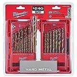 Milwaukee Electric Tools 48-89-2332 29Pc Cobalt Helix Drill Bit Set, Red