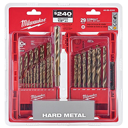 Milwaukee Electric Tools 48-89-2332 29Pc Cobalt Helix Drill Bit Set, Red ()
