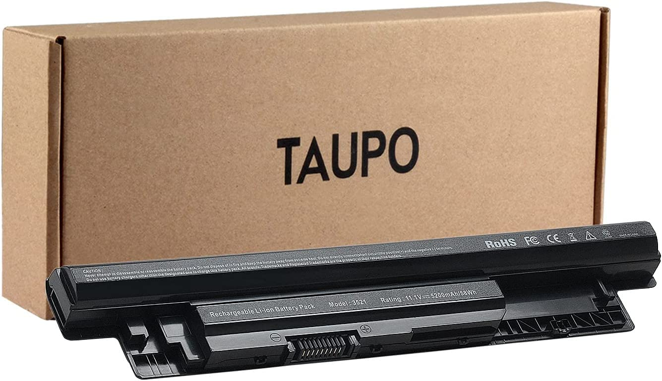 TAUPO XCMRD Laptop Battery Compatible with Dell 14 3421/ 14r 5421 5437/15 3521 5521 / 15r 5537/17 3721/ 17r 5737 5721/ Latitude 3540, fits P/N MR90Y 9K1VP
