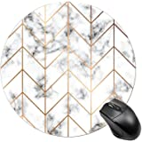 BYBART Mouse Pad, Black White Marble Stripe Mouse Pad Round Non-Slip Rubber Mousepad Office Accessories Desk Decor Mouse Pads