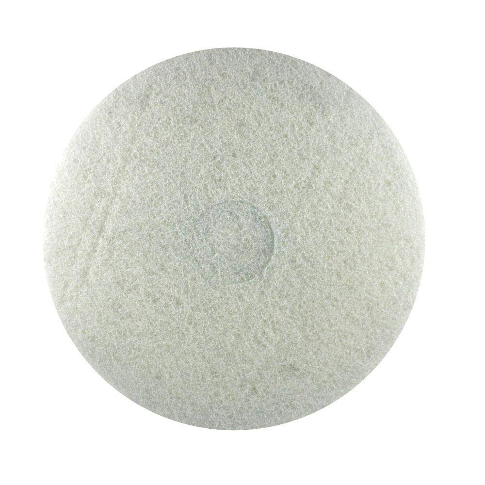 17 in. White Buffer Pad (5-Pack)