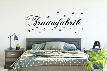 Wandtattoo TRAUMFABRIK Wandaufkleber Schlafzimmer Spruch: Amazon.de ...
