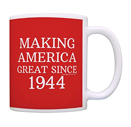 Buy 1 Red 75th Birthday Gifts Making America Great Since 1942 Funny Party Supplies Gag Gift Coffee Mug Tea Cup Online At
