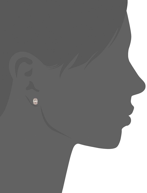 10k Rose Gold Morganite Oval Stud Earrings