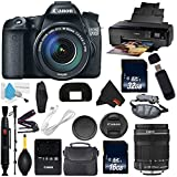Canon EOS 70D DSLR Camera with 18-135mm f/3.5-5.6 STM Lens International Version (No Warranty) + Epson SureColor P600 Inkjet Printer + 16GB & 32GB SDHC Class 10 Memory Card + Carrying Case Bundle