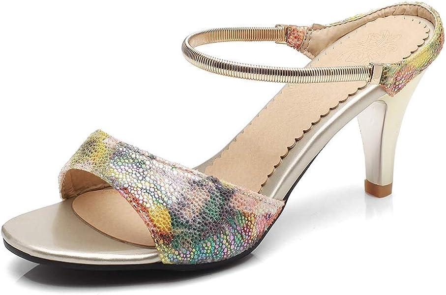 a0bd850c58f SFNLD Women s Stylish Open Toe Cut Out Kitten Heel Slide On Mule Slippers  Sandals Pink 4