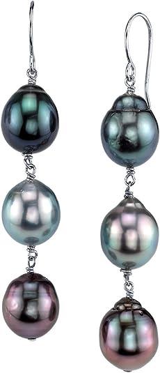1 pares de pendientes de perlas pendientes 10 mm multicolor colores pendiente perla arte perlas