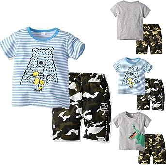 FELZ Ropa Bebe Niño Pijama Verano Recién Nacido Camiseta de ...