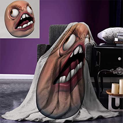 Amazon Com Humor Weave Pattern Extra Long Blanket Angry Rage Guy
