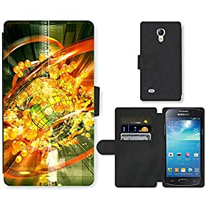Hot Style Cell Phone Card Slot PU Leather Wallet Case // M99999442 Future Tech Illustration // Samsung Galaxy S4 Mini i9190