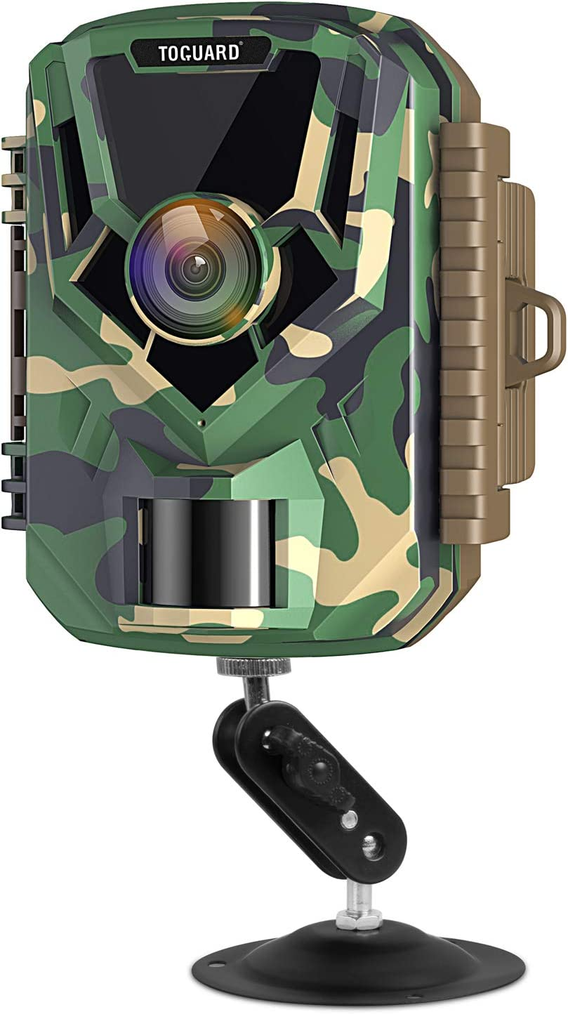 TOGUARD Mini Trail Camera FHD 1080P 12MP Game Camera 2 LCD Screen Small Hunting Trap Camera with IR Night Vision 120 Wide Angle Waterproof Video Camera for Wildlife Monitoring and Home Observation