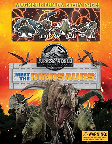 Jurassic World: Fallen Kingdom Magnetic Hardcover: Meet the Dinosaurs (Magnetic Playset)