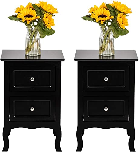 MTFY 2Pcs Nightstand End Table