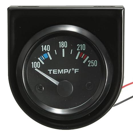 2 Inch 52mm 100-250 Degree F Car Auto Water Temperature Gauge Backlight 12V