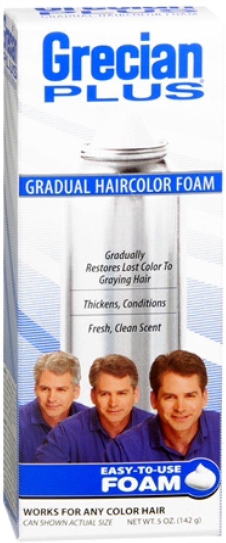 GRECIAN PLUS Haircolor Foam 5 oz (Pack of 6)