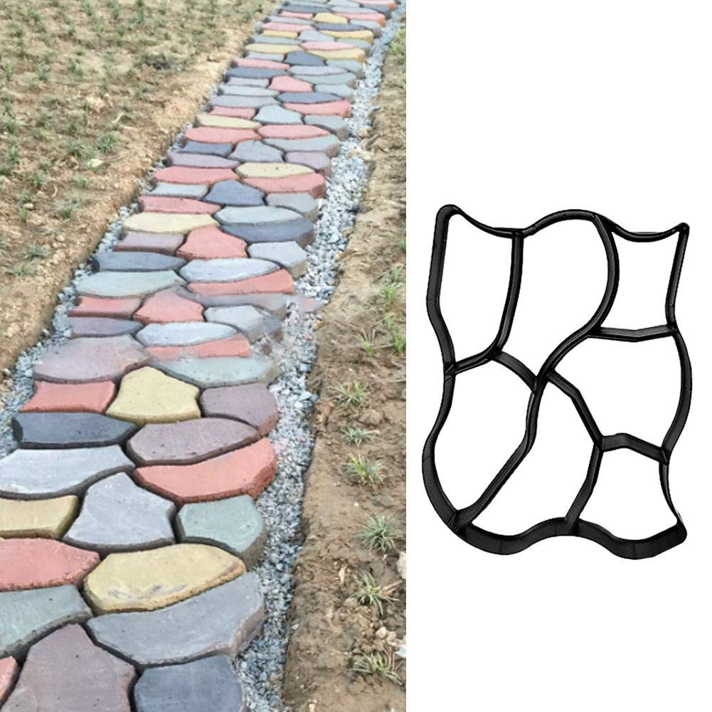 Bettying Pav/é Dallage B/éton Moule Chemin Maker Mould Jardin Tuile Moule All/ée Meuble De Pav/é Brique 60 x 50 cm