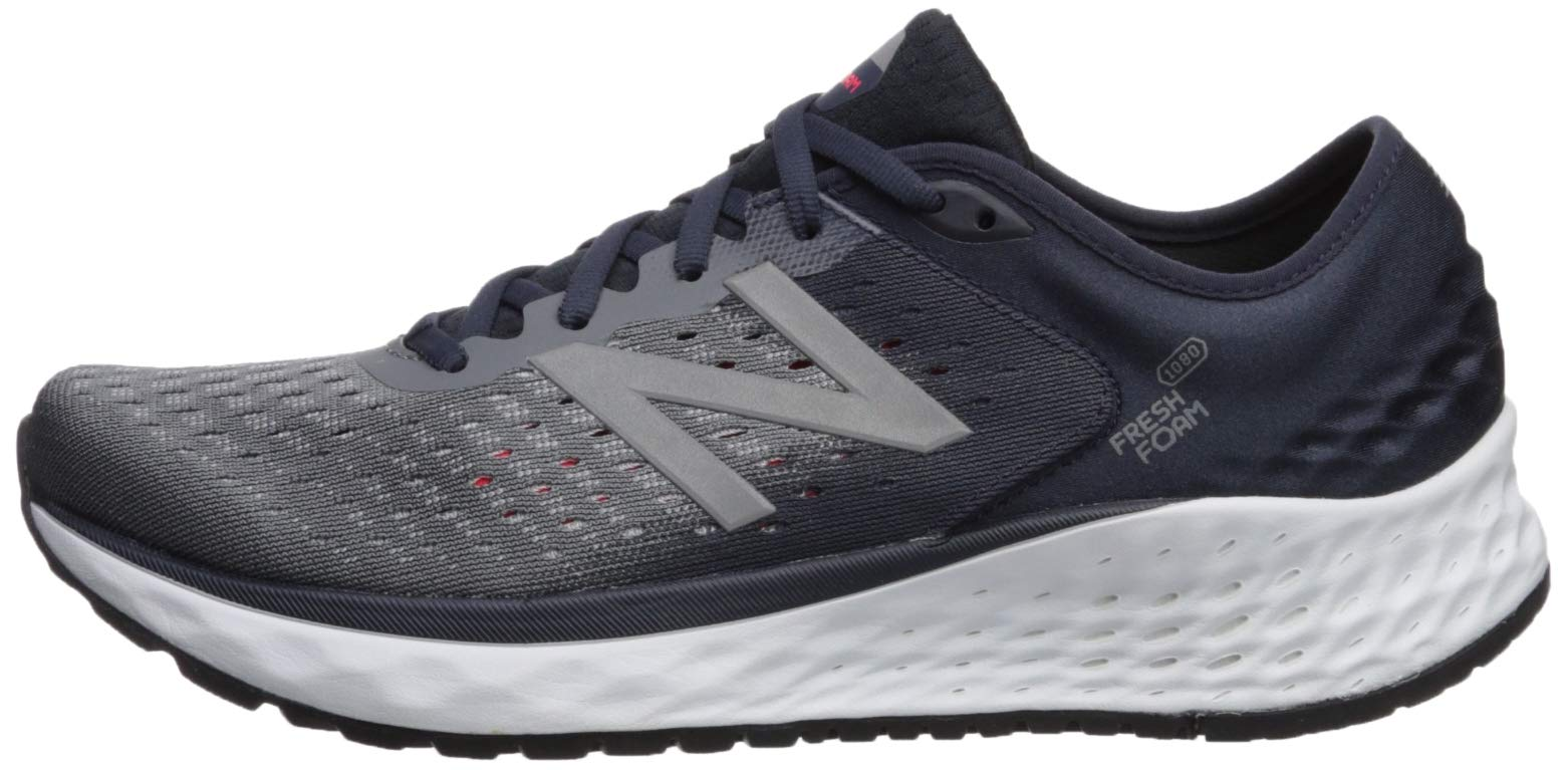 New Balance Men's 1080v9 Fresh Foam Running Shoe, Gunmetal/Outerspace/Energy red, 7 D US by New Balance (Image #5)