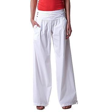 Femme Vêtements Promod Oqdf56 Pantalon Bouffant Et Blanc 44 CFq55xBXwt