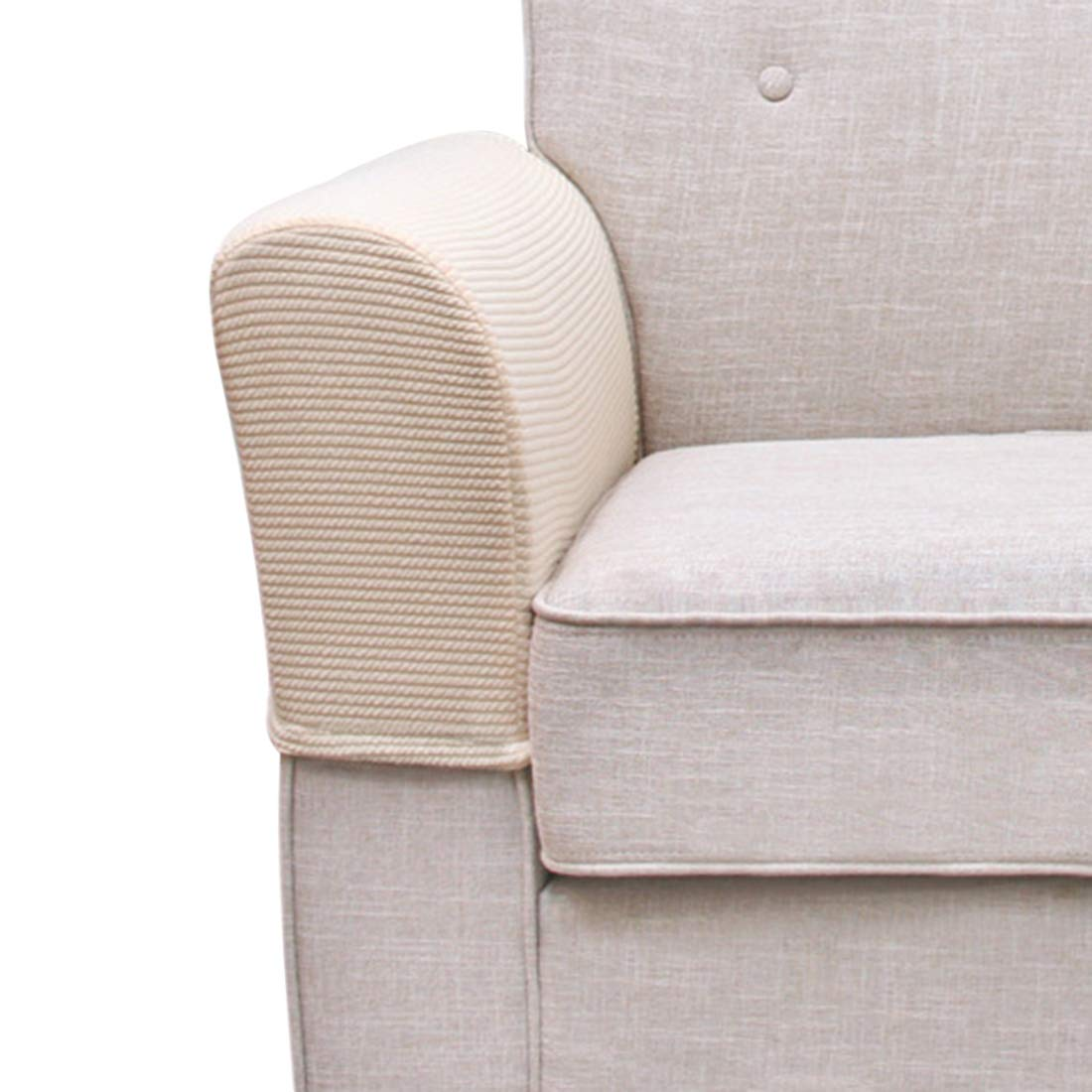 FREAHAP R Armrest Covers Anti-Slip Armchair Slipcovers Stain-proof Furniture Protector 2pcs